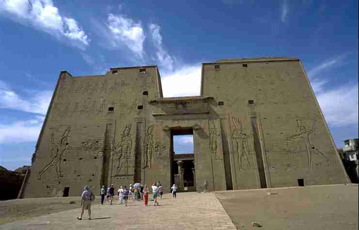 The well preserved temple in Edfu