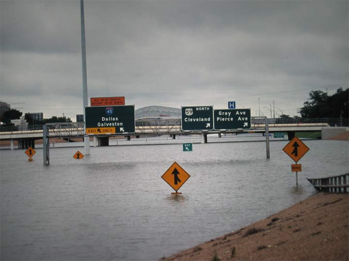 610 loop, junction to Galveston, flooded